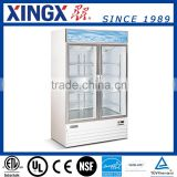 2 Glass Door Merchandiser, automatic defrost freezer, ice cream freezer showcase_D768BM2F
