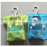2015 Hot sale Polyester mesh hanging bag for washing accessories,Bathroom collection for baby toys
