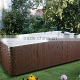 2016 POPULAR excellent Acrylic outdoor swimming massage spa bathtub with swim jet