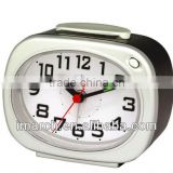 silvery table alarm clock