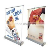 Mini small size retractable roll up banner pull up banner stand for counter tabletop desktop