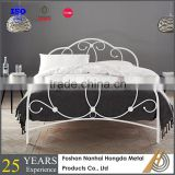 White Queen Metal Bed frame with wooden slats
