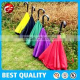 Windproof Reverse Folding Double Layer Inverted Umbrella,Self Standing Inside Out Rain Protection Umbrella with C-shaped Handle