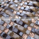 SMP25 Hot Selling Frosted Subway Mosaic Tile TV Background Wall Mosaic Tile Backing Mesh Mosaic