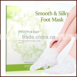 Natural Ingredients Private Label Moisturizing and Effectively Foot Peel Spa Socks Exfoliating Silk Foot Mask