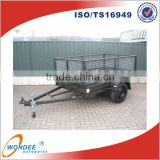 Hot Dipped Galvanizing 7'x4' Car Trailer Cage Tipping Trailer