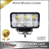 18W 4.5in rectangle emergency vehicles fire truck police cars forestry machine led work light