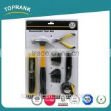 TOPRANK 22 piece professional portable household mini hand tool set in blister card packing
