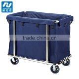 Laundry cart cleaning trolley Hotel linen trolley