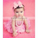 Baby Girls Light Pink Crochet Tube Top NB-12M