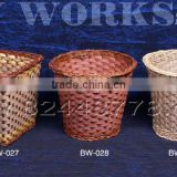 Bamboo products,bamboo articles basket,bamboo trash bin