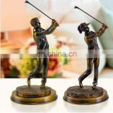 Delicate craft resin golf statue