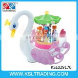 Musical china fantasy swan paradise electric toy for baby