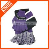 Zhenjiang kimtex winter items knitted hat and scarf