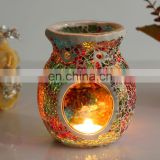 Mosaic Glass Incense Burner Tealight Holder
