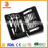 Set of 15 Manicure Set Nail Clippers Pedicure Tools Stainless Steel Grooming Kit