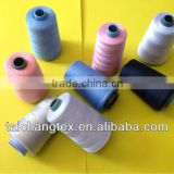 spun polyester yarn for sewing thread black