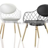 Replica Italian graceful Design wooden frame powder coated wire Jaime Hayon Pina Chair for living room
