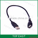 USB 2.0 A Male to A Female Extension Cable 0.3m A Male to A Female with Gold-Plated Contacts