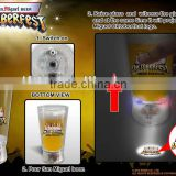best promotional gifts for clients-------led flashing cup glasses with projection logo