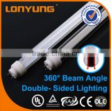 T10 double-side 3 years warranty 50,000H life-span 9w 18w 24w 2ft 4ft 5ft led marine tube light