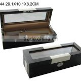 New Design Customized Wooden Jewelry Packaging Perfume Box with PVC Window and Lock W844