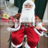 custom High 14'',16'',18''24'',28'',Animated Fiber Optic sitting posture Santa Claus for Christmas Decoration