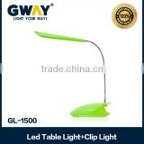 plastic housing led table light can be clipped in bed,high quality rechargeable led book light