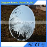Chinese manufacture bevelled silver mirror glass