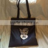 Long handle PP non woven silk printing shopping bag