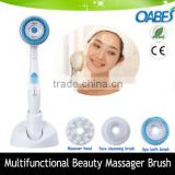2016 newest home use vibrating massage shower head brush and face cleaning massage brush beauty device