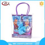 BBC Frozen Gift Sets OEM 013 Cheap kids 3pcs refreshing moisturizing pvc bag travel bath set