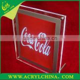 2014 acrylic LED sign light pannel acrylic LED sign light holder plexiglass sign light plexiglass block