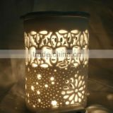 Tea lights wax burners white ceramic candle holders