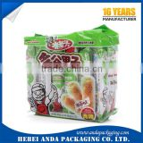 customized plastic snack bags/Aluminum foil food packaging film/biscuit stand up pouch/nuts back sealing bag