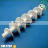 OEM factory price cnc machining white screw conveyor custom big uhmw-pe plastic screw for engineering