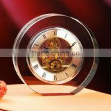 Round shape crystal wall clock