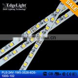 Edgelight 3528 warm white flexible smd led strip , cheap price ul listed led strip , CE/ROHS/UL rigid led strip                                                                                                         Supplier's Choice