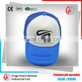 New Fashion Stylish Unisex Printing Golf Outdoor Sport Bule Colour Baseball Cap Promotion Custom Mesh Cap With Velcro closure