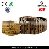 2016 promotion 100% natural wood material new trend products wooden belt zebra wood belt
