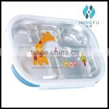 stainless steel square insulated food packaging lunch box with pp plastic cover for children                                                                         Quality Choice
