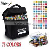 Bianyo Artist Double Headed Marker Set 36/48/60/72 Design Mark Pen Animation Design Paint Sketch Copic Markers for Drawing