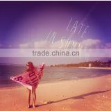 China supplier wholesales 100% cotton 21s/2 terry cloth / terry velour circle beach towels customize is also avalible