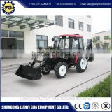 4 wd 120 hp tractor with backhoe loader made in China