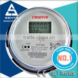 lcd display panels DDS7666 Single phase digital watt hour round remote for electric meter stop