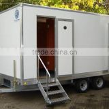 Horse trailer ramp, Portable Toilet, Movable trailer Toilet