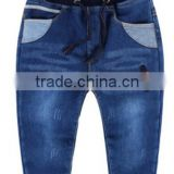 ribbing waistband cotton boys winter jeans polar fleece lined Baby Denim jeans children kids jeans boys denim trousers