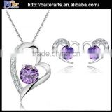 Elegant women's 925 sterling silver imitation diamond jewelry set                                                                         Quality Choice