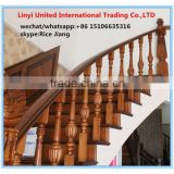 Red oak handrail spiral indoor staircase design