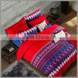 New Design Bohemian Style 100% cotton reactive printed bedding sets and comforter cover/colorful duvet cover and pillow covers